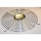 Fan Guard, 222.3mm, 174mm Hole Centers, (9) Rings Configuration, Nickel Chrome