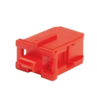 SC Adapter Blockout Device, Red Polycarbonate