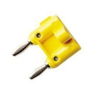 Banana Plug, 15A 33 Vrms/70VDC, Contents: (1) Red Stack-up Double Banana Plug