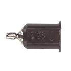 Banana Plug, 5A 2500VDC, Contents: (1) Black Standard Banana Jack To Miniature Banana Plug