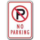 Traffic Signs Reflective Aluminum Front - No Parking - 88414