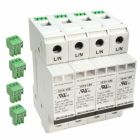 Surge Protective Device, 120/208/240VAC, 3 Phase plus Neutral 4 Pole 4 Wire and Ground, 100kA