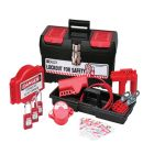 Valve Lockout Kit, Tool Box, Contents: (3) Safety Keyed Padlocks, (3) 1 in. Lockout Hasps
