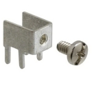 PC Screw Terminal, 0.512 in. L, Brass, Nickel, Tin Plate Mounting Hole, 0.032 in. thick, 0.452 in. W Stud End