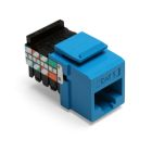 UTP Connector, IDC-Press Fit Connection, 8-Wire RJ45 Configuration, Cat 5, Blue