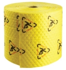 Absorbent Roll Black/Red On Yellow Polypropylene