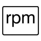 Engineering Unit Label Marker rpm -