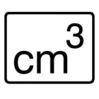 Engineering Unit Label Marker cm3 -