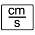 Engineering Unit Label Marker cm/s -