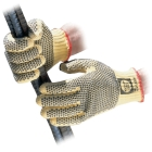 Gloves, Cut Resistant; PVC Palm; Yellow; Large