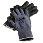 Work Gloves, Small, Black/Gray, Gripper Gloves, Knit Wrist Cuff, Lined, PVC Palm