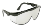 Safety Glasses, Black Frame, Indoor/Outdoor Clear Mirror Duramass Hardcoat Lens