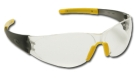 Safety Glasses, Grey/Yellow Frame, Clear Duramass Hardcoat Lens