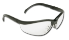Safety Glasses, Black Frame, Clear Duramass Anti-Fog and Hardcoat Lens