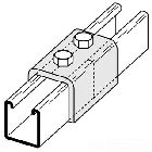 Channel Joiner, Exterior Clevis Straight