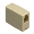 Modular In-line Coupler, 4-Conductor Configuration, White
