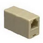Modular In-line Coupler, 4-Conductor Configuration, Ivory