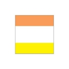 Thermal Transfer Printable Label, 4.00 in. H x 4.00 in. W, Polyester, White/Yellow/Orange
