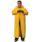 Rider Coat, 38 to 40 in. Chest/Medium, PVC over Polyester, Yellow, (1) Pockets