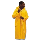 Knee Coat, 56 to 58 in. Chest/XXX-Large, PVC on Polyester, Yellow, (2) Patch Pockets