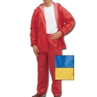 Rainsuit, 40 to 42 in. Waist/40 to 42 in. Chest/Medium, PVC on Nylon, Blue, -3 Outer Pockets