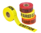 Underground Hazard Tape, 3 in. W x 1000 ft L, CAUTION ELECTRIC LINE BURIED BELOW (English/French)