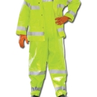 Bib Overall, XX-Large, PVC Coating on Nomex, Fluorescent Yellow/Green, Hook and Loop Closure