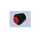Pushbutton Switch, SPST, On-Off (momentary/maintained), 125VAC, 3A/125Vac, Red, Round Button