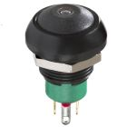 Non-Lighted Pushbutton Switch Black 48VDC