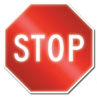 Sign, Traffic, Legend: Front - Stop