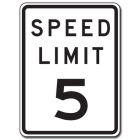 Traffic Signs Reflective Aluminum Front - Speed Limit 5 - 88402
