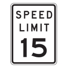 Traffic Signs Reflective Aluminum Front - Speed Limit 15 - 88404