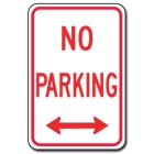 Traffic Signs Reflective Aluminum Front - No Parking - 88421