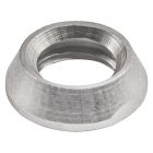 Dress Cap Nut, 0.374 in. OD x 0.118 in. Thick, Nickel-Plated Brass, Gray