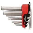 CVM Steel Holder Hex Key Set, 9 Keys