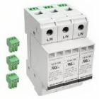 Surge Protective Device, 480/600VAC, 3 Phase 3 Pole 3 Wire and Ground, 100kA, DIN Rail Mounting