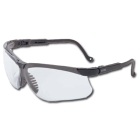 Safety Glasses, Clear Polycarbonate Ultradura Lens, Black Polycarbonate Frame