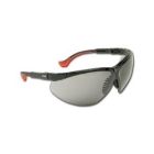 Safety Glasses, Grey Polycarbonate Ultradura Hardcoat Lens, Black Polycarbonate Frame