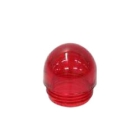 Indicating Light Lens, 0.43 in. OD x 0.62 in. H, Dome Mount, Red, Glass Filled Polyester
