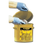 Can, Oil Waste, 9.62 in. Dia. x 9.12 in. H, Yellow