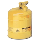 Can, Safety, Type I, Steel, Yellow, 5 gal