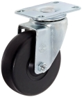 Enclosure Caster without Locking Brake, 5.12 in. H Mounting, Rubber, Black