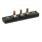 Terminal Block, Single Row, 3P, Threaded Stud/Bus Bar Terminal, Surface/Eyelets Mount