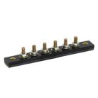Terminal Block, Single Row, 6P, Threaded Stud/Bus Bar Terminal, Surface/Eyelets Mount