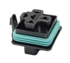 Automotive Relay Socket, 5-Pin Socket, Cable End Mount, Standard, Blue Construction