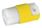 Straight Blade Connector, 15A, 125V, 2P 3W Nylon Yellow