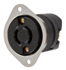 Locking Flanged Outlet, 20A 250V, 2W 2P, Natural