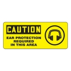 Visual Sign Plastic Caution Ear Protection Required In This Area - 92098VP