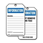 Equipment Status Sign Cardstock Information Reason Signed By Date - 99333CTP