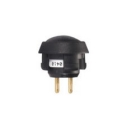 Non-Lighted Pushbutton Switch Black Plastic SPST NO 24VDC
